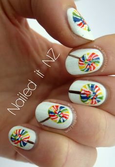 Nailed It NZ: Lollipop nail art tutorial http://www.naileditnz.com/2013/07/lollipop-nail-art-tutorial.html