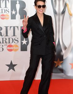 Noomi Rapace Noomi Rapace, Kylie Minogue, Spice Girls, Rihanna, Brit Awards 2016, Double Breasted Suit, People, Suit Jacket, Suits