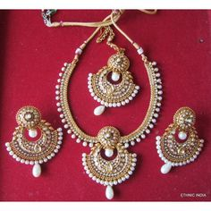 Online Shopping for WHITE PEARL POLKI GOLD PLATED NECKL | Jewellery Sets | Unique Indian Products by ETHNIC INDIA - METHN11196748950