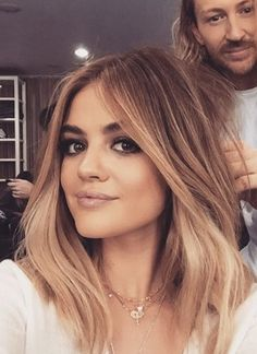 Lucy Hale ombre blonde hair