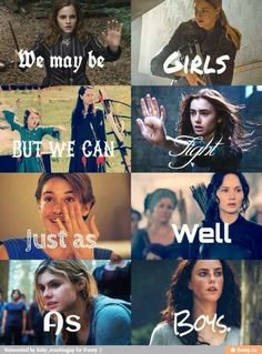 Hermione, Tris, Lucy, Susan, Clary, Hazel, Katniss, Annabeth, Teresa Harry Potter, Divergent, Narnia, Mortal Instruments, The fault in our stars, Hunger Games, Percy Jackson, Maze Runner