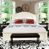 Found it at Wayfair - Arch Panel Bed in Moonbeam White
