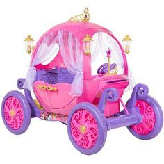 24 Volt Disney Princess Carriage Ride-On for Girls by Dynacraft Image 2 of 11 Disney Princess Carriage, Disney Princess Toys, Princess Costumes, Disney Princesses, Little Girl Toys, Baby Girl Toys, Toy Cars For Kids, Kids Toys, Cool Toys For Girls