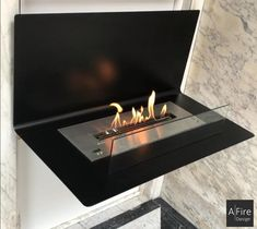 How can you install a stylish fireplace ? AFIRE has all the news about wall mounted ethanol fireplace and the latest trends in decorating with fire Ethanol Fireplace, Rustic Fireplaces, Bio Ethanol, Standing Fireplace, Wall Mounted Fireplace, Chiminea, Rustic Loft, O Gas, Design Moderne