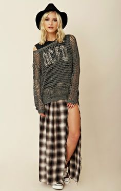 planet blue fall #planetbluefall UNIF Glam Sweater  It's high fashion grunge ;-)