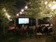 Outdoor Movie Night in backyard but do it on my rooftop deck