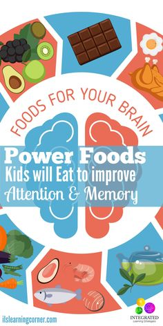 Power Foods Kids will Actually Eat to Improve Attention and Memory in the Classroom - Integrated Learning Strategies - Power Foods Kids will Actually Eat to Improve Attention and Memory in the Classroom Kids Nutrition, Nutrition Tips, Nutrition Activities, Brain Food For Kids, Boys Food, Power Foods, Learning Tips, Kids Learning, Adhd Diet