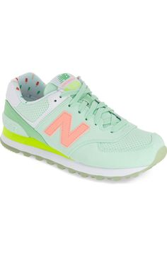 Creating fun and colorful looks with these retro New Balance sneakers.