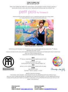 SAVE THE DATE: September 20, 2013 - 6:00PM  Join us as Viviana G of Petit Pois unveils her Spring 2014 'Wonderland' Collection at McCormick Place, Downtown Miami in conjunction with DWNTWN Art Days! [The event is free + OPEN to the PUBLIC]   See you there!
