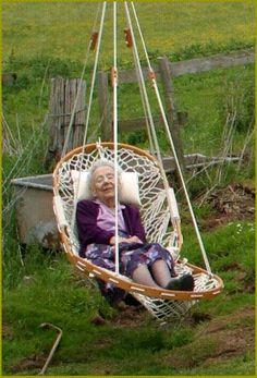Comfy garden swing!