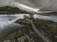 Interesting viewpoint of Eilean Donan Castle