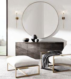 Round mirror elegant