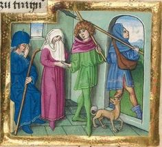 """Furtmeyr-Bibel (Deutsche Bibel """"Münchener Altes Testament""""). Band 1:  Genesis - Ruth. Cgm 8010a 1465-70, Regensburg Folio"""