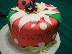 Made by LaKeisha Keck with Sweet Tooth Mother and Daughter cakes.  Lady bug cake.