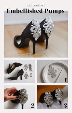 awesome swellmayde: HOLIDAY DIY | EMBELLISHED PUMPS