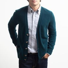 Cashmere Cardigan Emerald     #gifteverlane to dad