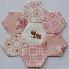 Pink hexies by clair101, via Flickr