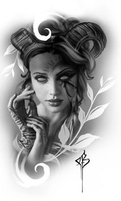 ideas tattoo sleeve drawings sketches faces for 2019 Tattoo Design Drawings, Tattoo Sketches, Tattoo Designs, Tattoo Ideas, Trendy Tattoos, New Tattoos, Tattoos For Guys, Female Tattoos, Photoshop