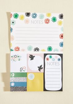 Your sunny sensibilities are mirrored in this cheery notepad set from Chronicle Books! Featuring the work of artist Lorena Siminovich, this patterned five is decorated with bold patterns in juicy colors, offering seriously sweet sentiments to your desk.