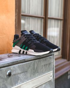 """adidas EQT Running Support ADV """"Core Black/Sub Green"""" Buy now Online:"""