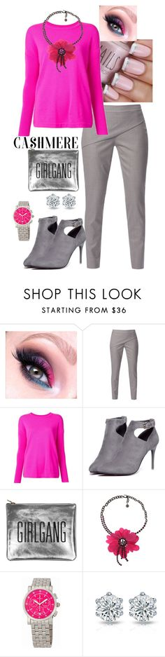 """""""Pretty in Pink"""" by bee4735 on Polyvore featuring WtR London, Magaschoni, WithChic, Sarah Baily, Lanvin, Michele and cashmere"""