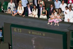 Only the Federer twins could sit like this at Wimbledon.