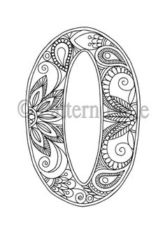 Welcome to my range of Alphabet Letters colouring pages! These are hand drawn for adults and aspiring young artists. Grab your coloured pencils and Easy Coloring Pages, Alphabet Coloring Pages, Alphabet Art, Letter Art, Printable Coloring Pages, Kindergarten Coloring Pages, Mandala Art Lesson, Doodle Lettering, Zentangle Patterns