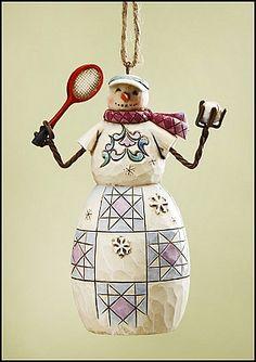 Jim Shore, Tennis Snowman Ornament