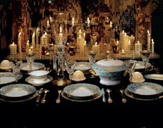 I have beautiful china and love setting a formal table for dining.....but what working woman has time these days?   Just dreaming......
