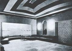 Interior del Café Zahara en la Gran Vía de Madrid. Fecha: 1930