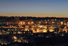 Puente de Toledo de noche