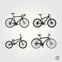 Free Vector Bicycle Silhouettes