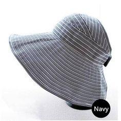 486703d1e4fe1 Womens sun visor wide brim summer hat striped packable beach hats travel  wear