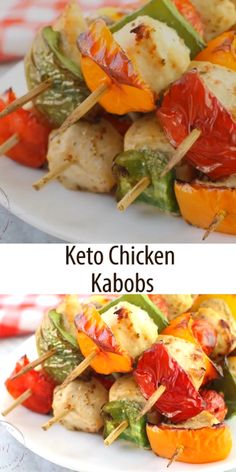 This Easy Keto Chicken Kabob Marinade is perfect for your summer cookouts! Savory with just a touch of sweet, this low carb chicken marinade is ready in minutes and adds tons of flavor without the carbs! This Easy Shish Kabobs Marinade, Chicken Kabob Marinade, Chicken Kabobs, Chicken Marinades, Low Carb Recipes, Diet Recipes, Healthy Recipes, Keto Chicken, Chicken Recipes