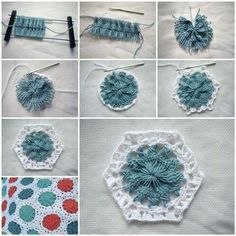 Great inspiration for hairpin lace motif