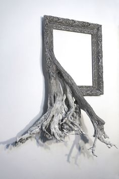 Fusion Frames by Darryl Cox Fuse Gnarled Tree Roots with Ornate Picture Frames #art