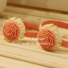 100% Handmade Hairbands / Headbands  	Bow size: 6.5cm*6.5cm (Approx.)  	PVC band wrapped with grosgrain ribbon  	Plastic Headband width : 1.5cm