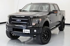 Black Lifted Ford F-150 Truck