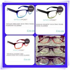 Holiday memory inspired glasses. By Specspost.