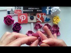 DIY-Como Hacer Rosas Flores en Tela/How To Make Easy Fabric Flower Roses/Роза//クリップ簪 - YouTube
