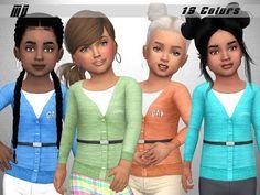 The Sims 4 Mody: Sweterki dla małych dziewczynek od Marty P
