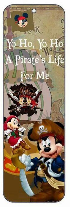 Bookmark Pirate Mickey Minnie