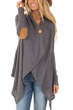 The cardigan is featuring v neck, long sleeve, solid color and irregular. The cardigan is casual and fashion. The cardigan is suitable for shopping, daily wear, outdoors and many occasions. Cardigans For Women, Coats For Women, Clothes For Women, Style Gris, Street Style Chic, Knitted Coat, Wool Coat, Plaid Coat, Plus Size T Shirts