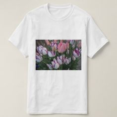 Tulips Peace Flame & Purple Pride T-shirt - flowers floral flower design unique style