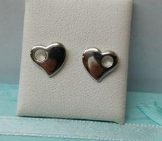 Ohrstecker - Herz Ohrstecker Ohrringe Herzchen 925 Silber KO138 - ein Designerstück von myduttel bei DaWanda