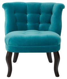 Oliver bonas ocean velvet tub chair