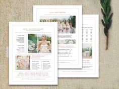 Digital Pricing Guides for Photographers  by designbybittersweet for #weddingphotography