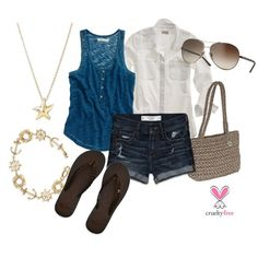 Beach Blue & Gold, created by pbmhuck on Polyvore  Goal - July, 2012 - Outfits I will be wearing!
