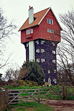 Water tower transformed into a house in the clouds (Photo by Christine Matthews)