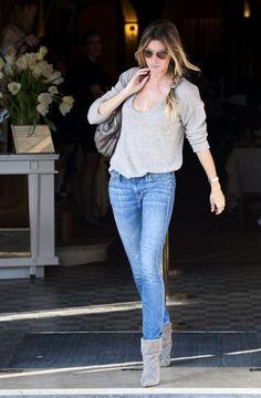 Gisele Bundchen Skinny Jeans - Gisele Bundchen Clothes Looks - StyleBistro